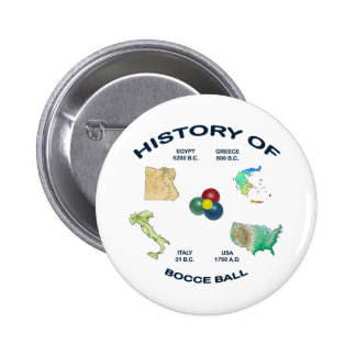 Bocce Ball History 2 Inch Round Button