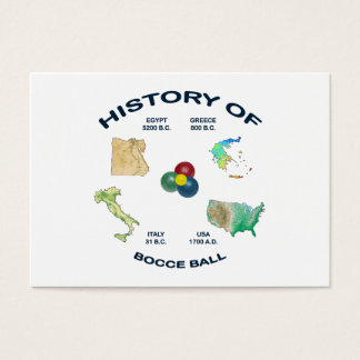 Bocce Ball History Business Card