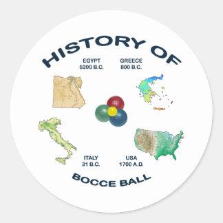 Bocce Ball History Classic Round Sticker