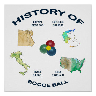 Bocce Ball History Poster