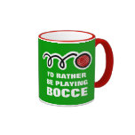 Bocce ball mug with funny quote