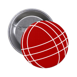 Bocce ball pinback button
