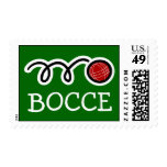 Bocce ball postage stamps