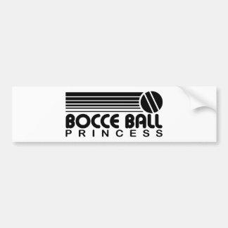 Bocce Ball Princess Bumper Sticker