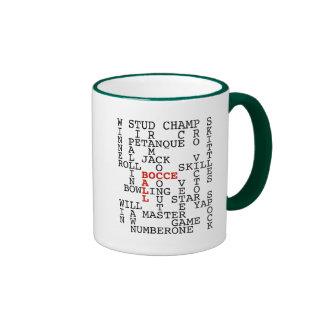 Bocce Ball Puzzle Ringer Coffee Mug
