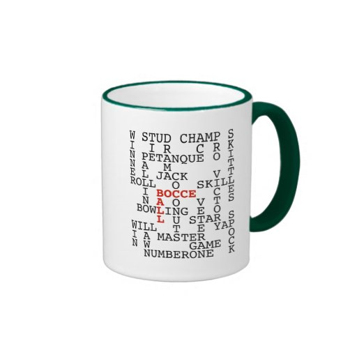 Bocce Ball Puzzle Ringer Mug