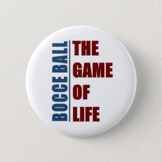 Bocce ball  the game of life pinback button