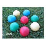 Bocce Balls Postcard