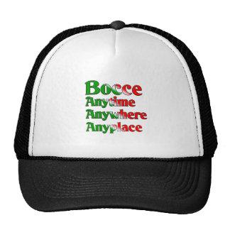 Bocce en cualquier momento dondequiera dondequiera gorra