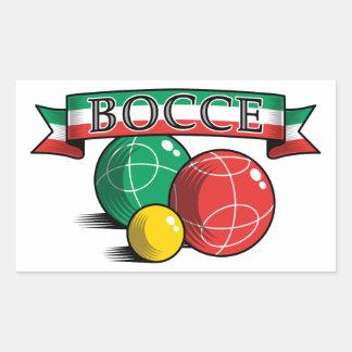 Bocce in Banner Square Sticker