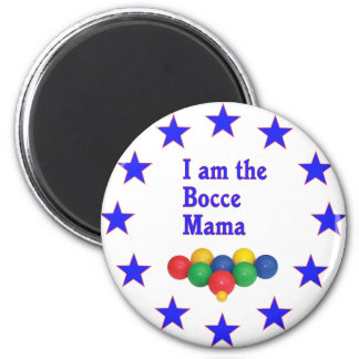 Bocce Mama 2 Inch Round Magnet