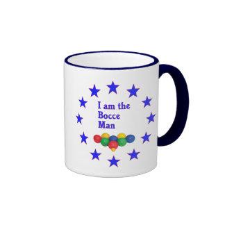 Bocce Man Ringer Coffee Mug