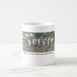 """Bocce on a Sunday Afternoon"" Classic White Coffee Mug"