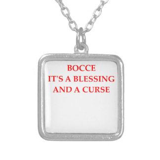 bocce square pendant necklace