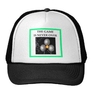 bocce trucker hat