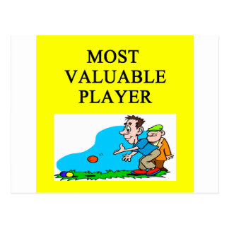 BOCCI most valuable player Postcard