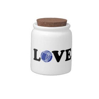 Boccia Petanque love Candy Jar