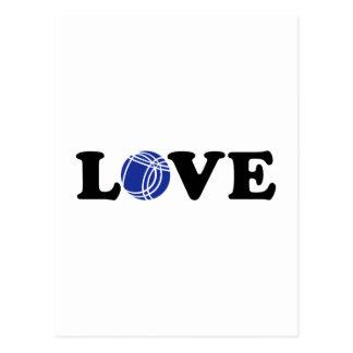 Boccia Petanque love Postcard