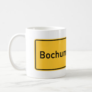 Bochum, Germany Road Sign Mug