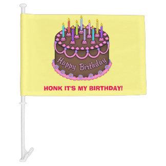 Bocinazo es mi bandera del coche del cumpleaños