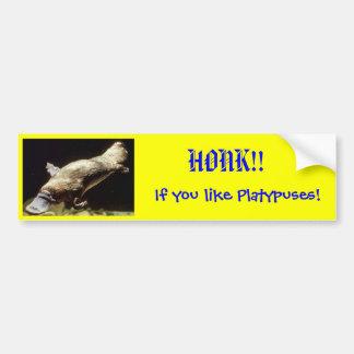 ¡BOCINAZO!! ¡Si usted tiene gusto de Platypuses! Pegatina Para Auto
