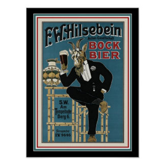 Bock Beer Ad Poster 12 x 16