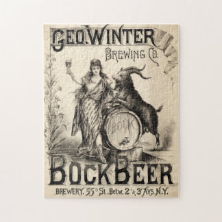 Bock Beer Brewing Co Lager Vintage Antique Rustic Jigsaw Puzzle