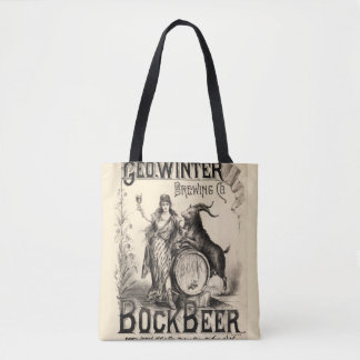 Bock Beer Brewing Co Lager Vintage Retro Brewer Tote Bag