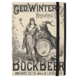 """Bock Beer Brewing Co. Vintage Cool Home Brewer iPad Pro 12.9"""" Case"""