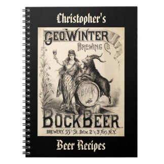 Bock Beer Brewing Co. Vintage Cool Home Brewer Notebook
