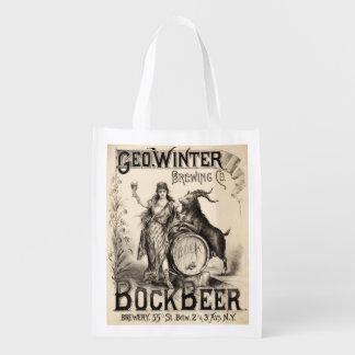 Bock Beer Brewing Co. Vintage Retro Cool Grocery Bag