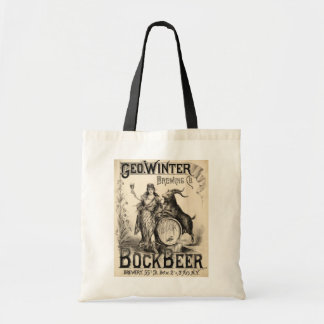 Bock Beer Brewing Co. Vintage Retro Cool Tote Bag
