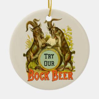 Bock Beer Goats Ceramic Ornament