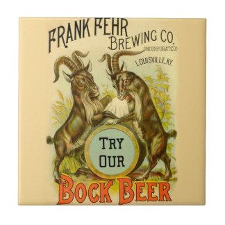Bock Beer Goats Ceramic Tile