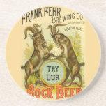 Bock Beer Goats Coasters