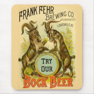 Bock Beer Goats Mouse Pad