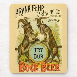 Bock Beer Goats Mousepad