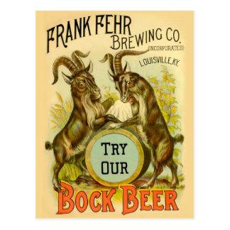 Bock Beer Goats Postcard