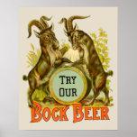 Bock Beer Goats Poster