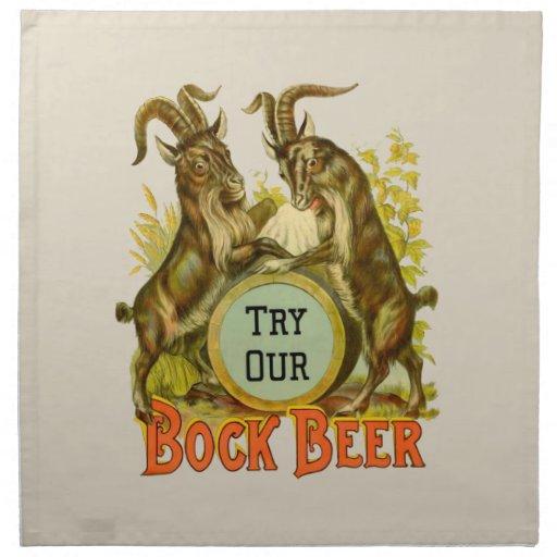 Bock Beer Goats Printed Napkins