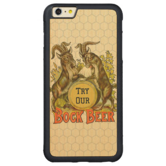 Bock Beer Goats Vintage Advertising Carved Maple iPhone 6 Plus Bumper Case