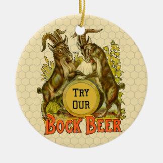 Bock Beer Goats Vintage Advertising Ceramic Ornament
