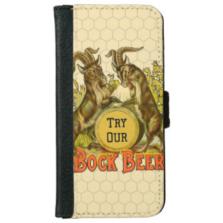 Bock Beer Goats Vintage Advertising iPhone 6/6s Wallet Case