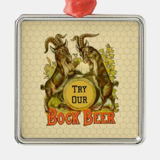 Bock Beer Goats Vintage Advertising Metal Ornament