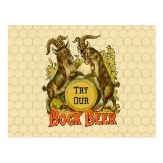 Bock Beer Goats Vintage Advertising Postcard