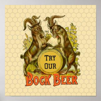 Bock Beer Goats Vintage Advertising Posters