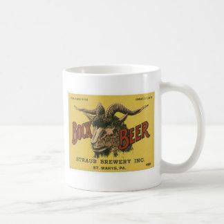 Bock Beer Label Coffee Mug