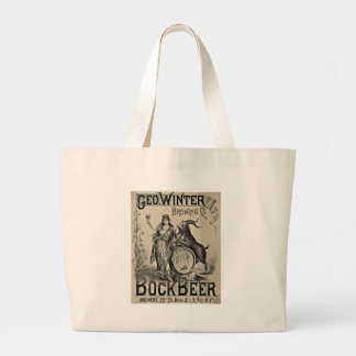 Bock Beer old advertising Large Tote Bag