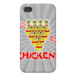 bock bock chicken funny scared bowling pins iPhone 4 cover
