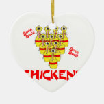 bock bock chicken funny scared bowling pins ornaments